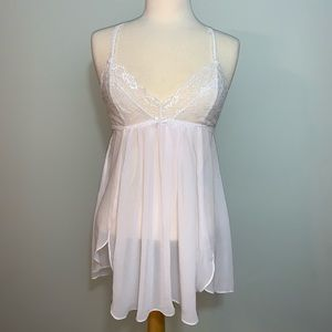 White Lace and sheer nightie